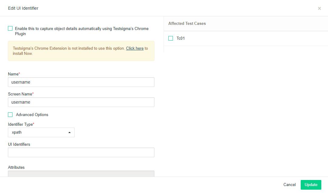 Web Application Automated Testing ui identifiers