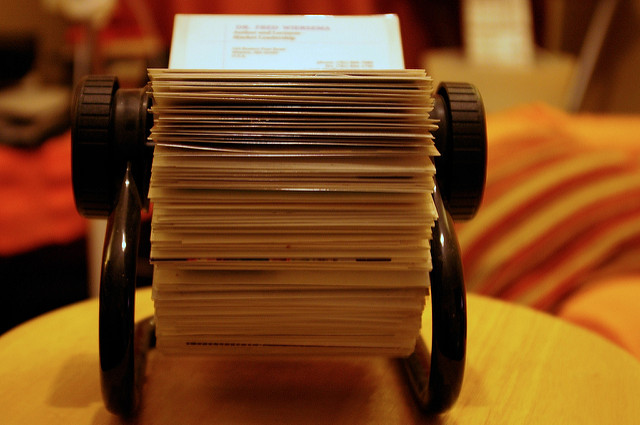 Rolodex by Ged Carroll on Flickr (CC BY 2.0)