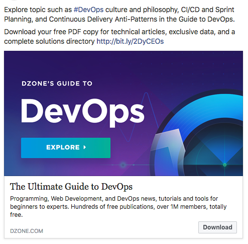 DevOps Facebook Ad