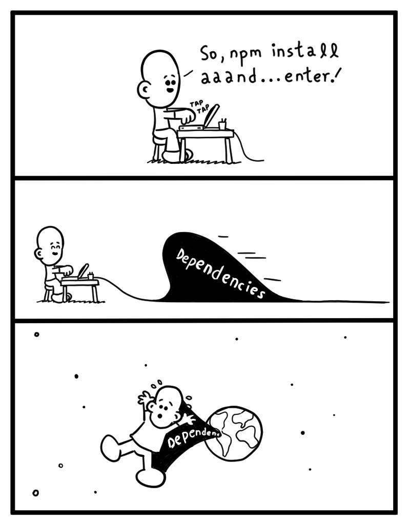 npm install [Comic] - DZone Web Dev