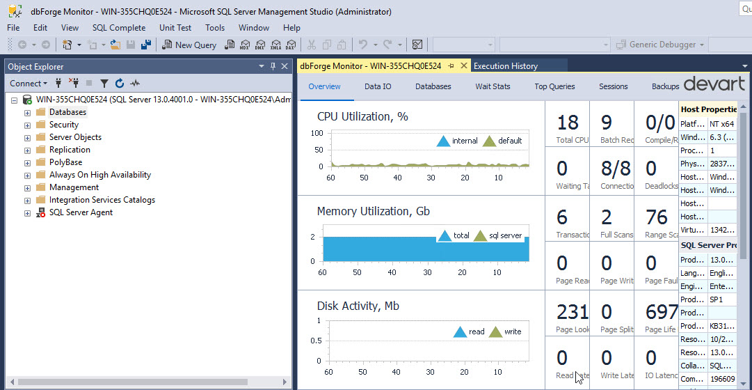 SQL Server performance counter