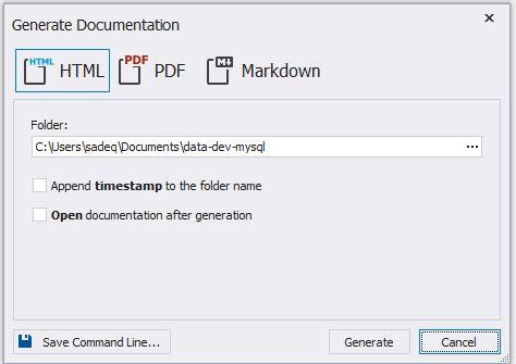 Database Documentation Output File Types