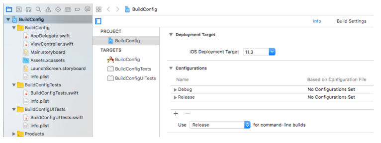 Managing iOS Build Configurations and Schemes for XCTest