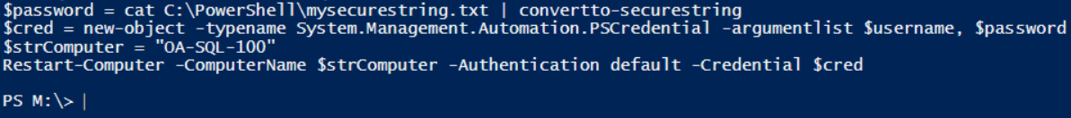 PowerShell Using the Secure String