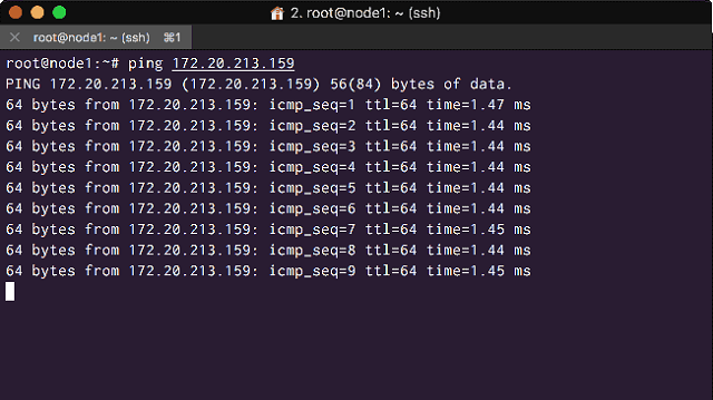 Ping your other nodes private IP addresses from each node> 2b. Install Percona XtraDB Cluster