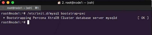 Bootstrap the Cluster on node1