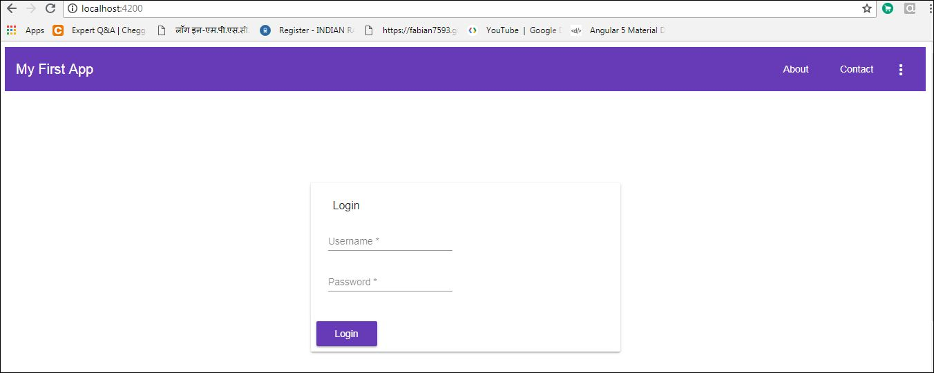 Login Page Using Angular Material Design - DZone Web Dev