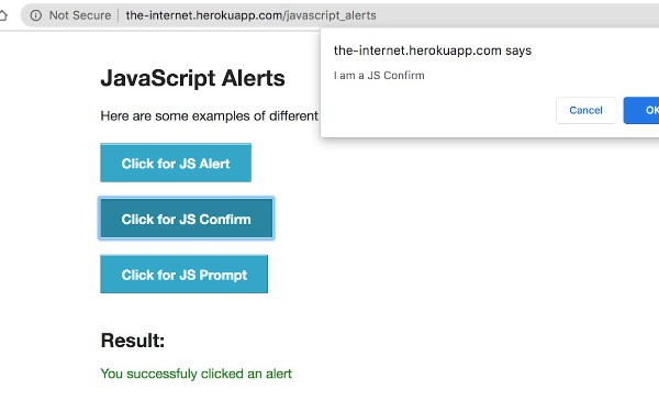 WebDriverIO Tutorial: Handling Alerts and Overlay In Selenium